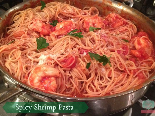 Super easy pasta dish barilla spicy shrimp pasta recipe #pastanight #PMedia #ad