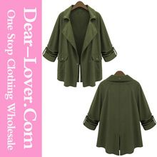 Women's clothing 2015 Army Green Lapel Collar Fashion shearling coat women Best Seller follow this link http://shopingayo.space