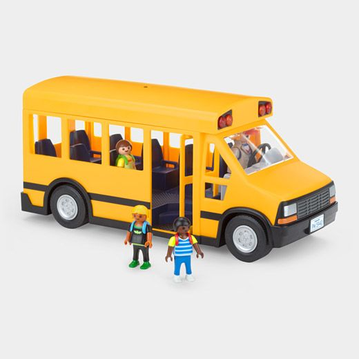 Toy School Bus: Comes with 4 toy figures and removable roof. #Toys #School_Bus