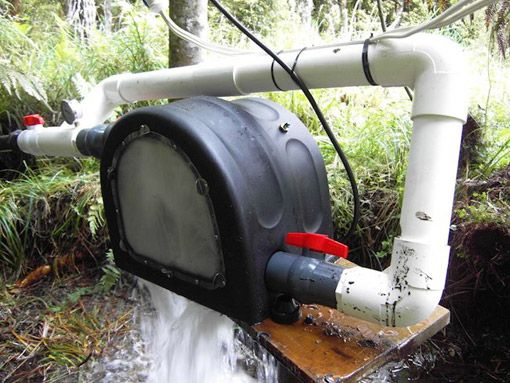 "Power from water -- I wonder if there is enough ""drop"" from the spring on my property to be worth installing this?"