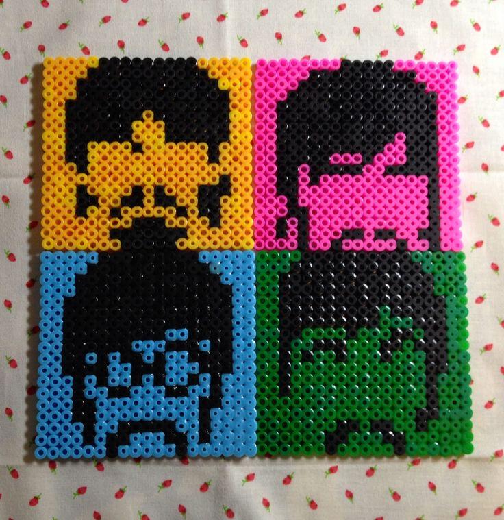 Poker Table Set The Beatles coasters hama beads by Irema Diadema | Crafts ...