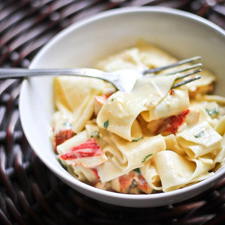 Pappardelle Alfredo With Lobster Mushroom Recipe by anniew on #kitchenbowl