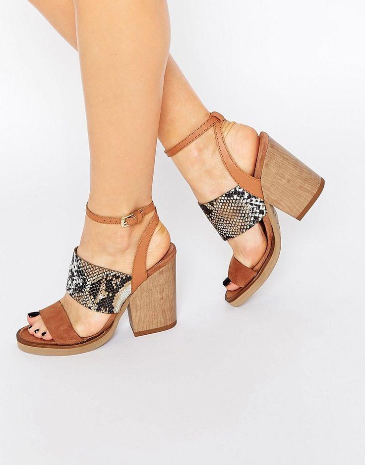 Image 1 - New Look - Sandales en cuir véritable de qualité supérieure effet peau…