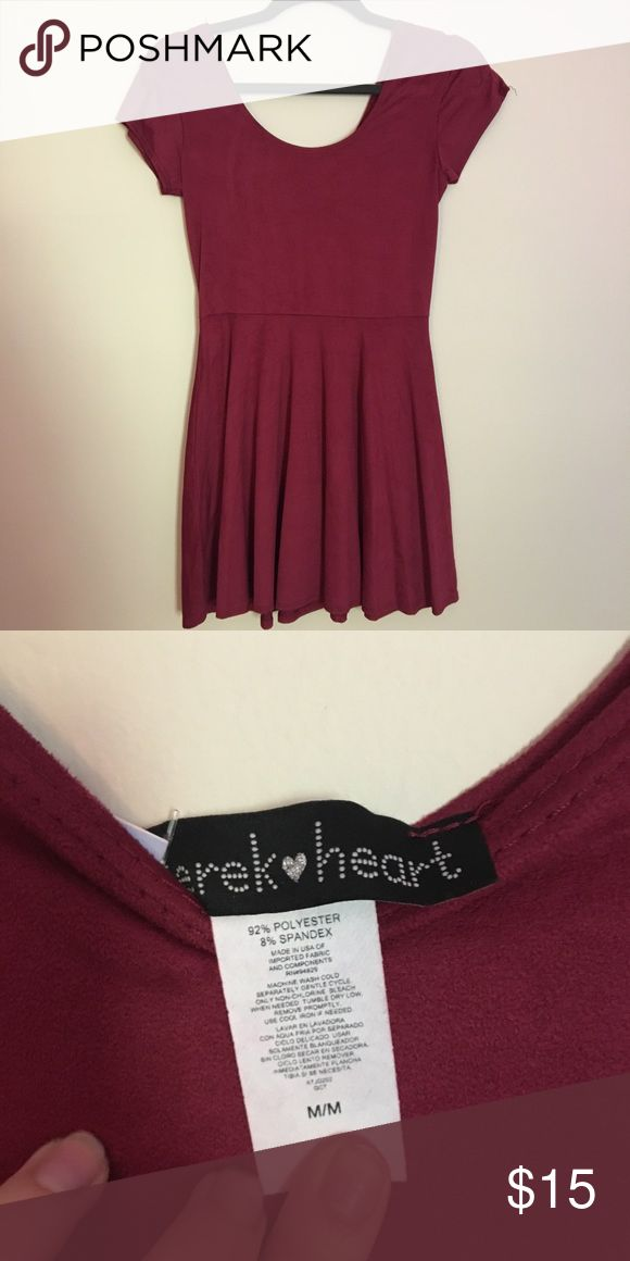 Suede Garnet Dress Very flattering. Great condition! Dresses