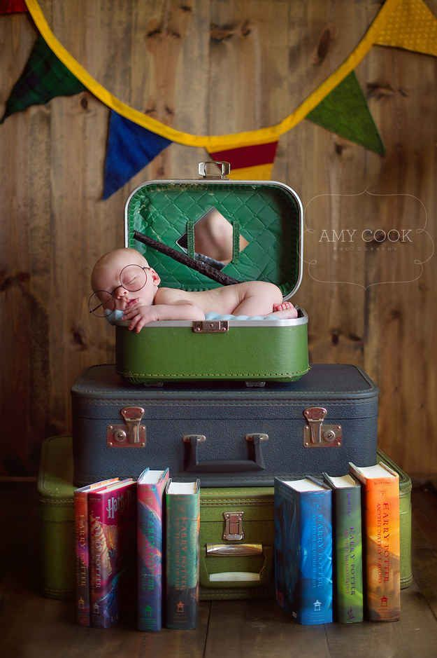 This tiny wizard: | 29 Newborns Who Really Nailed Their First Photo Shoot
