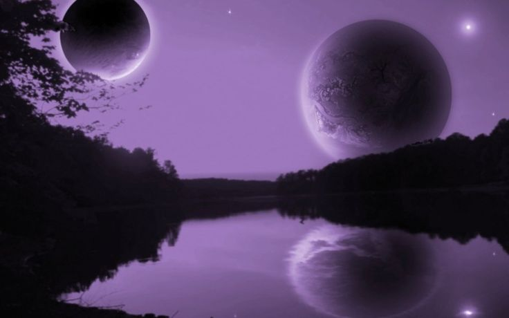 Mythical Purple Moons Download free addictive high quality photos,beautiful images and amazing digital art graphics about Fantasy / Imagination.