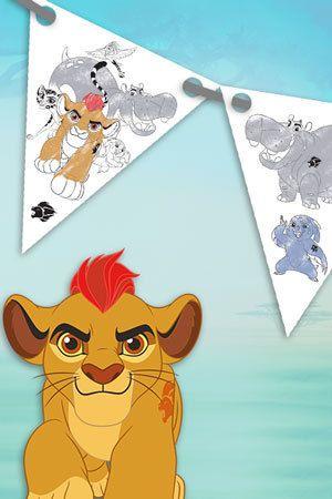Fanion de fête La Garde du Roi Lion