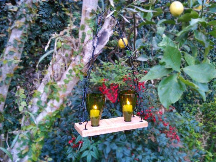 Porta velas colgantes para exteriores, Ideales para iluminacion de jardines