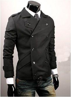 British Style Men's Black Double Breasted Jacket. $39.95 . REG 69.95