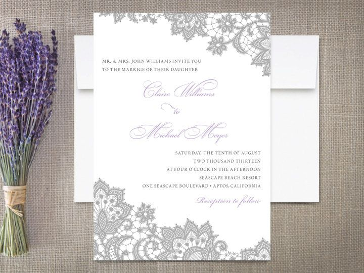 Elegant Lace Wedding Invitations By Rockpaperdove On Etsy, $40.00