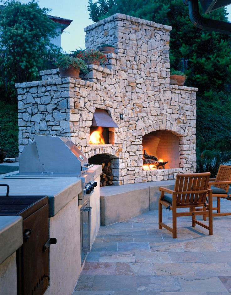 Best 25+ Outdoor stone fireplaces ideas on Pinterest | Outdoor ...