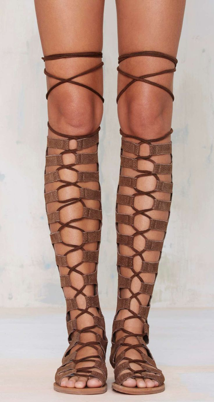 Lace up gladiator sandals - Hehe, Burning Man much ;)