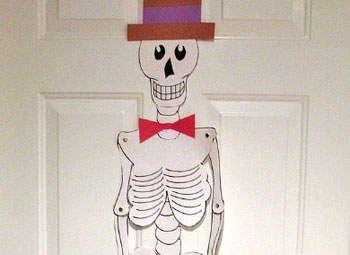 Kids' Crafts: Halloween - Paper Skeleton - Halloween Decorations & Costumes - Kaboose.com
