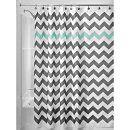Amazon.com: InterDesign Chevron Shower Curtain, 72 x 72-Inch, Gray/Aruba: Home & Kitchen