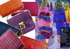 "Kolorowe torebki skórzane. Moda. Colourful leather handbags. Fashion. Handbags. Leather. Kolaż: sonia Firlej & Etui & Magazyn ""Hello Fashion"""