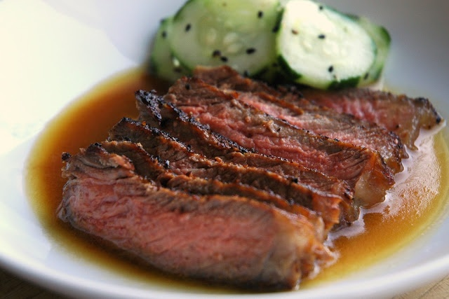 Seared Steak with Ponzu Sauce ~ A blend of soy and citrus ...