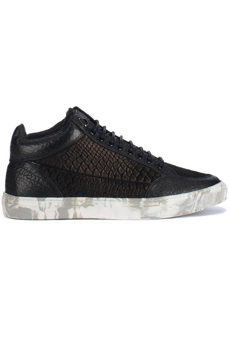 Bijzondere Mason Garments Tia mid marble (zwart) Heren sneakers van het  merk mason garments