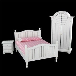 Mayberry Miniatures Street White amp Pink Girls Bedroom Set