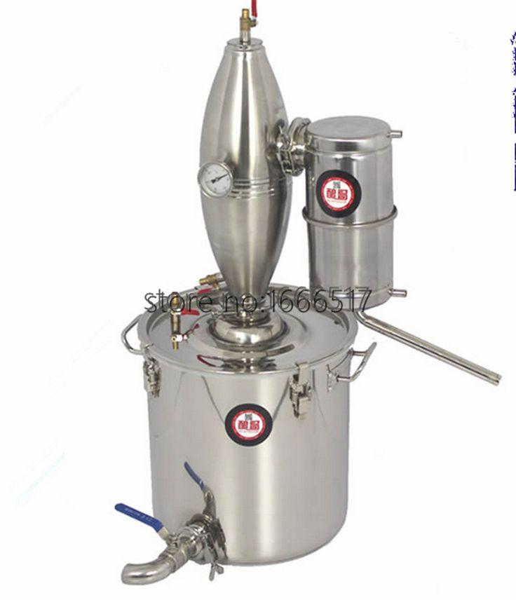 30L Destilador de Álcool Inoxidável Home Brew Kit Vinificação Caldeira Moonshine Ainda RH
