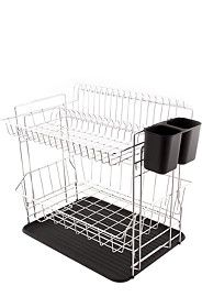 DOUBLE DISH RACK WITH DRIP TRAY