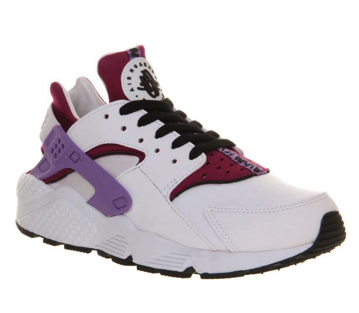 Nike Air Huarache White Black Bright Magenta - Office gets it's firt pair of Huarache's.  And they are sick. A x