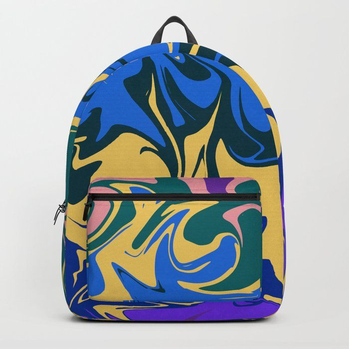 Hurricane Ii Abstract Color Storm In Blue Purple And Yellow Designing Our Premium Backpacks Is A Meticulous Process As Art Yellow Backpack Purple Backpacks