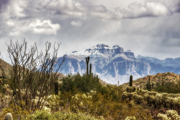 SNOW ATOP THE SUPERSTIIONS   2012-2013 Arizona Highways Online Photography Contest Submitted by: Saija Lehtonen