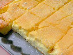 Recept na tvarohový koláč. Na přípravu budete potřebovat jen pár minut. Je vynikající!