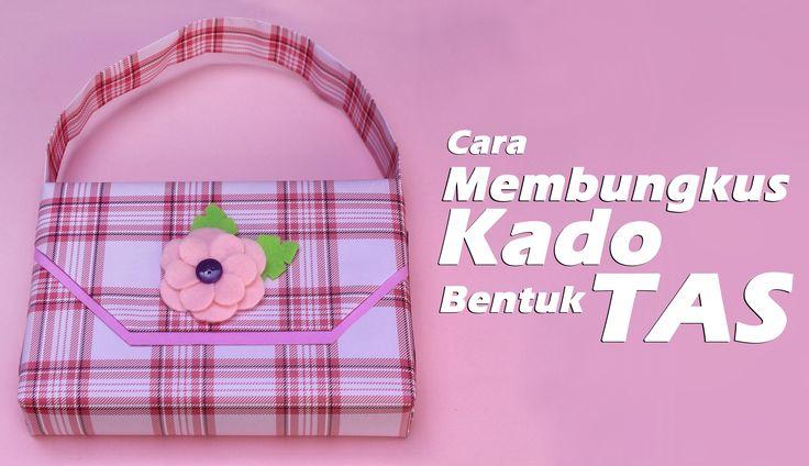 Cara Membungkus Kado Bentuk Tas/ How to a wrap gift a bag style