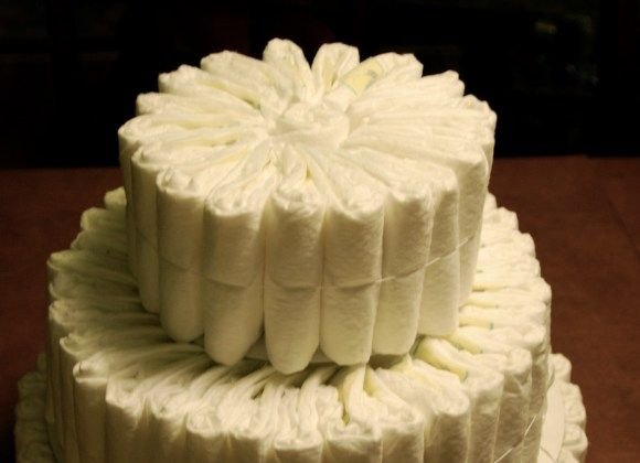 Diaper Cake DIY Instructions, may need this for a baby shower