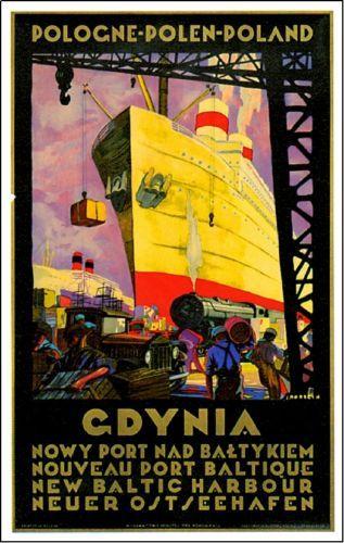 1920s-Poland-Ocean-Liner-Art-Advertisement-Travel-Poster-Print