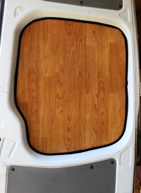 Sprinter Rear Door Insulation Panel In Light Wood