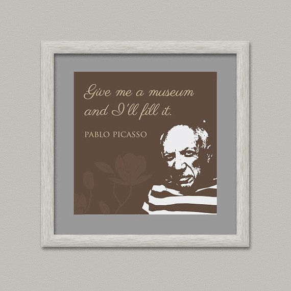 PICASSO QUOTE Wall Decor Printable Digital Artwork by OopsyIdeas