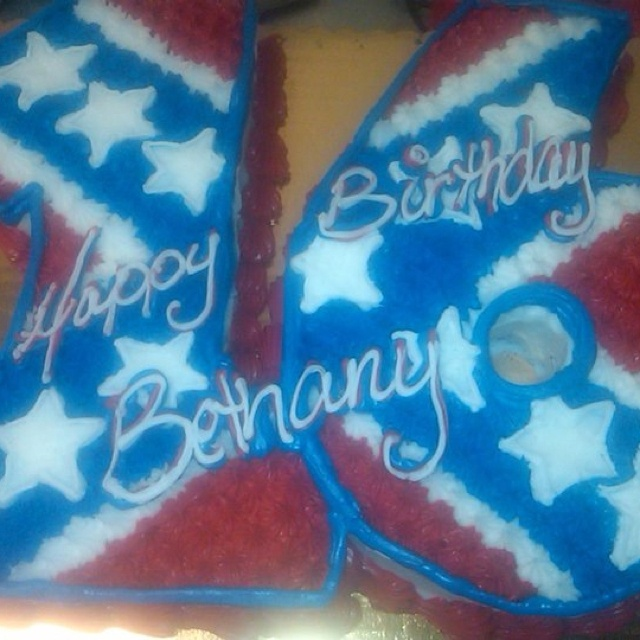 Rebel flag cake love it