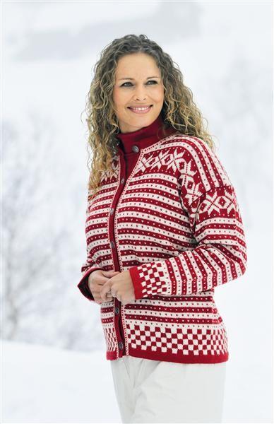 Tema 15: Modell 23 Fanakofte i sisu #strikk #klassiker Fanakofte, traditional Norwegian knitting, sweater.