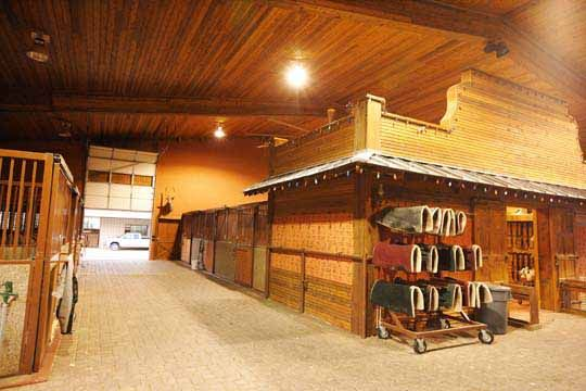 Dreaming of these wide aisles and organized tackroom in my own barn!