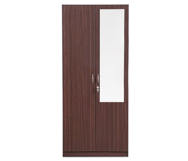 Two Door Wardrobe Design With Glass Id536 - Two Door Wardrobe Designs - Wardrobe Designs - Product Design