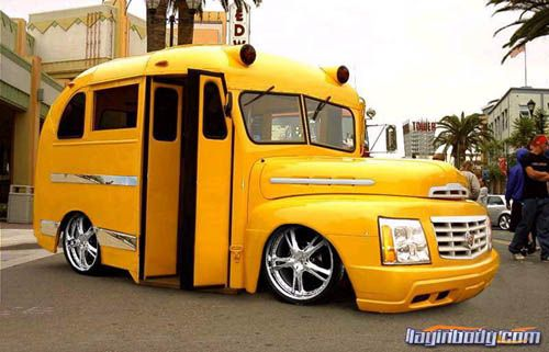 Custom Bus! If you gotta get to school ... in STYLE.
