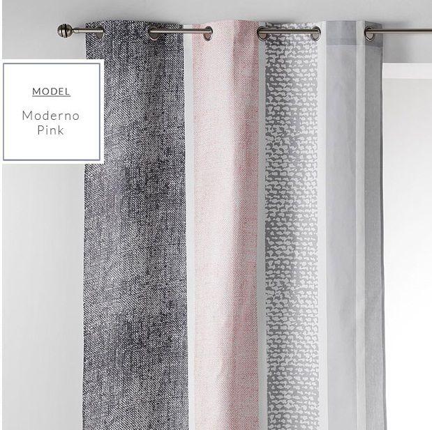 Hotové dekoračné závesy ružovej farby do obývačky