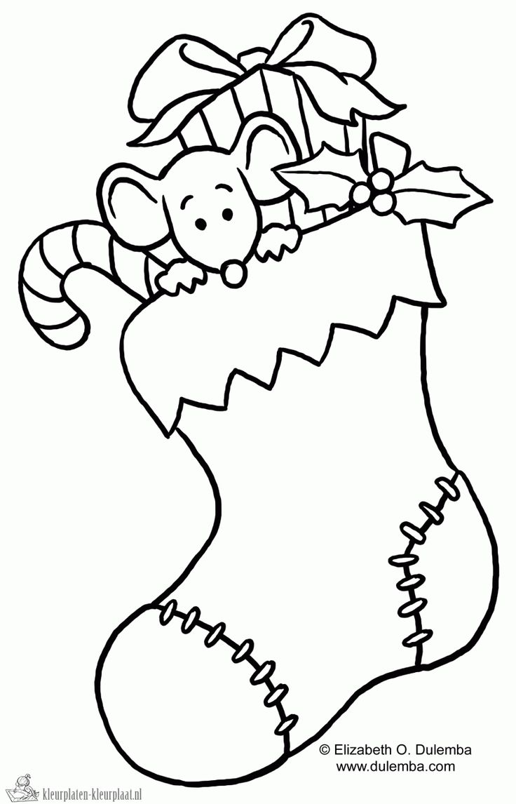 Fun coloring this awesome picture of a cute puppy inside a christmas - Disney Coloring Pages Christmas Stocking Coloring Page