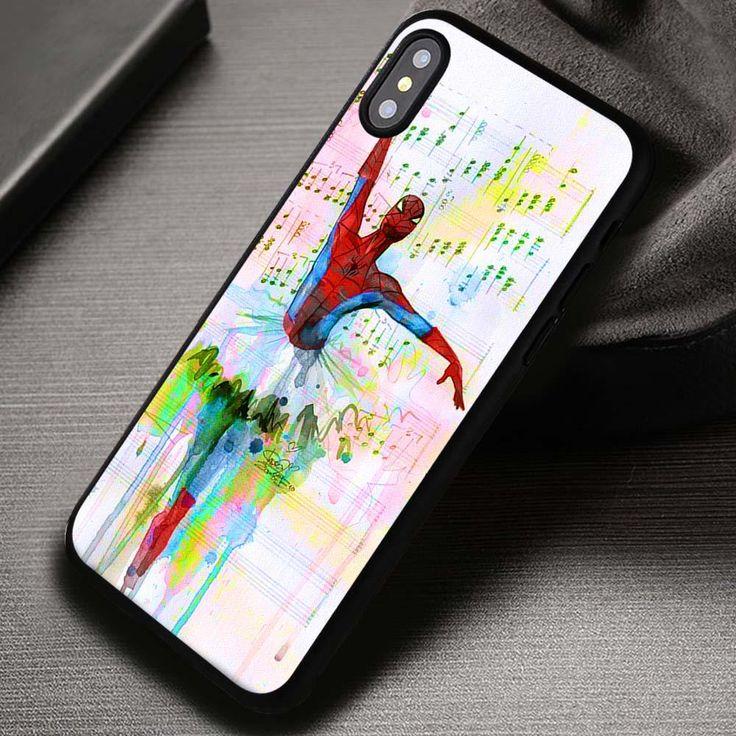 Ballet Water Color Art Spiderman - iPhone X 8  7 6s SE Cases & Covers #movie #superheroes #spiderman #ballet #iphonecase #phonecase #phonecover #iphone7case #iphone7 #iphone6case #iphone6 #iphone5 #iphone5case #iphone4 #iphone4case #iphone8case #iphoneXcase #iphone8plus