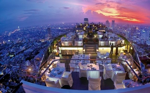 Vertigo, Bangkok, Thailand | 32 Restaurants With Spectacular Views http://www.buzzfeed.com/tashweenali/restaurants-with-gorgeous-views-from-around-the-globe