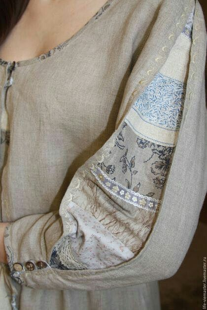 Sleeve. Linen and print