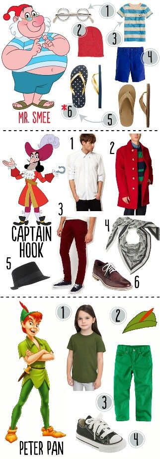 Peter Pan costumes from everyday clothes
