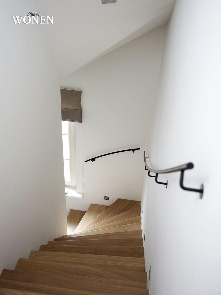 Stijlvol Wonen: het magazine voor warm-hedendaags wonen - ontwerp: C-Interiors - fotografie: Dorien Ceulemans #blackwhite #trap #smeedijzer #eik