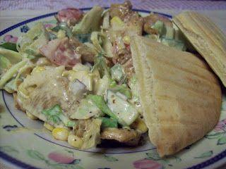 Ancika konyhája: zöldséges sültcsirke saláta