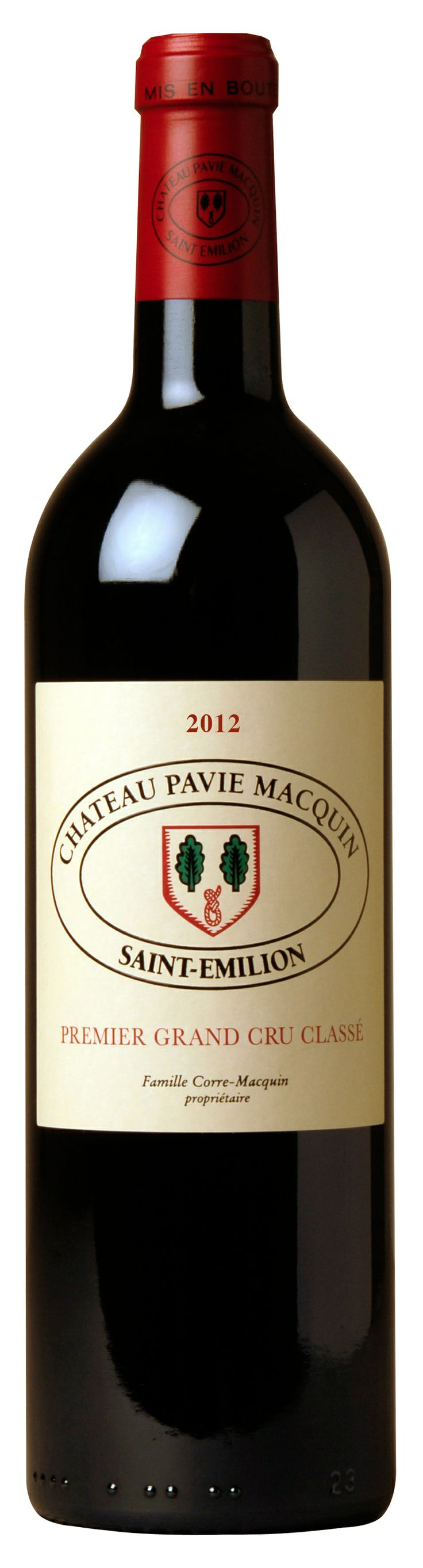CHATEAU PAVIE MACQUIN 2012 Finement boisé, on y trouve des fruits noirs, des notes de  poivre vert et souple, les tanins sont fermes. Long en bouche, bien conçu qui a besoin de temps en bouteille avant qu'il ne soit prêt à être apprécié.  Finely wooded, there are black fruit, hints of green pepper and supple tannins are firm. Long finish, well designed needs time in bottle before it is ready to be enjoyed.  精致的木香,我们能闻到黑色果香,绿胡椒香,口感柔顺,单宁紧致。口感悠长,需要在瓶中停留一些时间以便于我们只在它最佳状态时品尝。