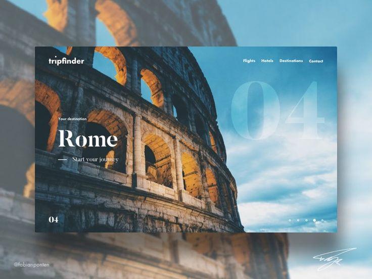 Weekly UI Design – Tripfinder – Travel Web Design by Fabian Pontén - Dribbble