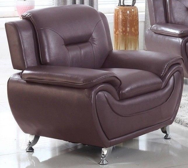 Modern Accent Chair Faux Leather Lounge Armchair Living Room Furniture Brown #ModernAccentChairs #Modern