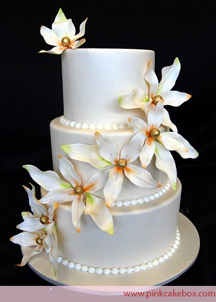 I really love the simple elegance of this cake, and those sugar
